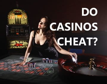 Picture of a female dealer in a casino, looking seductively at the player.