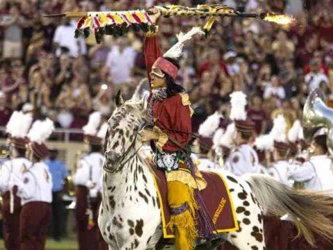 chief osceola and renegade at fsu seminoles game