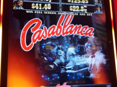 The Casablanca Slot Machine at the Winstar Casino - I Don't Know What the House Edge Is